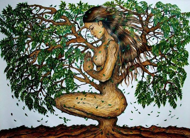 mujer arbol
